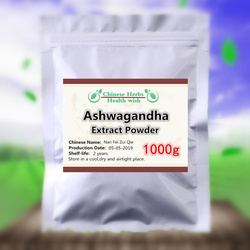 1000g, Relief Stress & Bevorderen Slapen, Ashwagandha Extract Poeder, Withania somnifera, nan Fei Zui Qie, Indiase Ginseng, GMP Productie