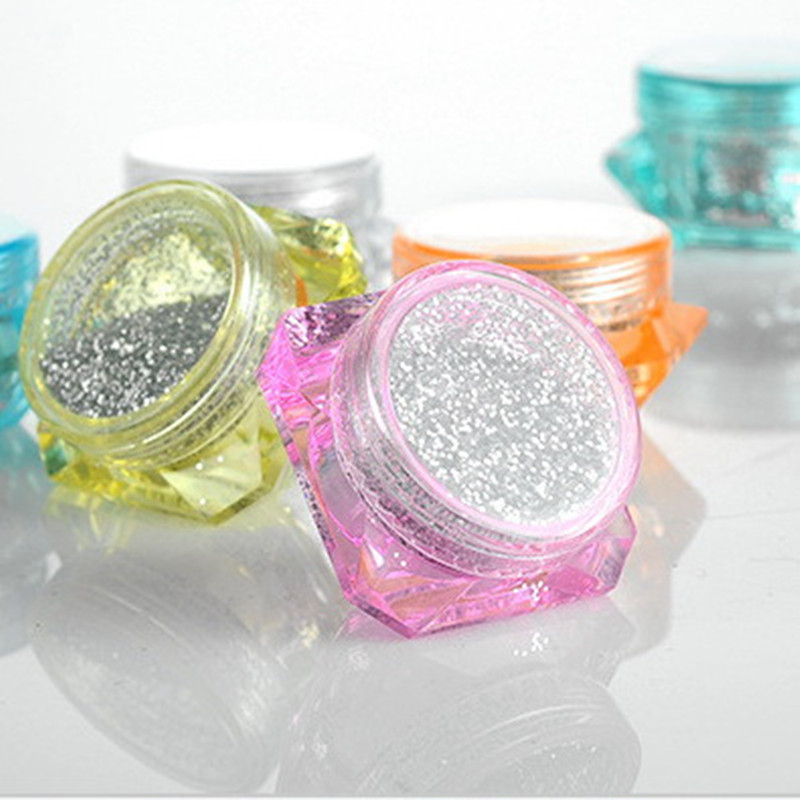 10pcs/lot 3g 5Gram Cosmetic Empty Jar Eyeshadow Makeup Face Cream Container Bottle Multicolour Cosmetic Pot Sample Jar