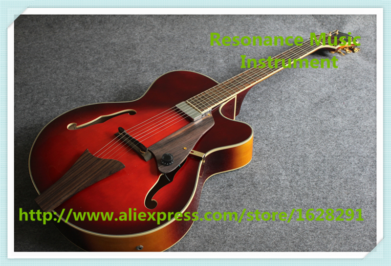 Chinese Custom Shop Hollow Maple Jazz Guitar Electric In Wine Red For Sale hot selling g custom shop limited lp florentine jazz semi hollow body electric guitar desert burst in stock