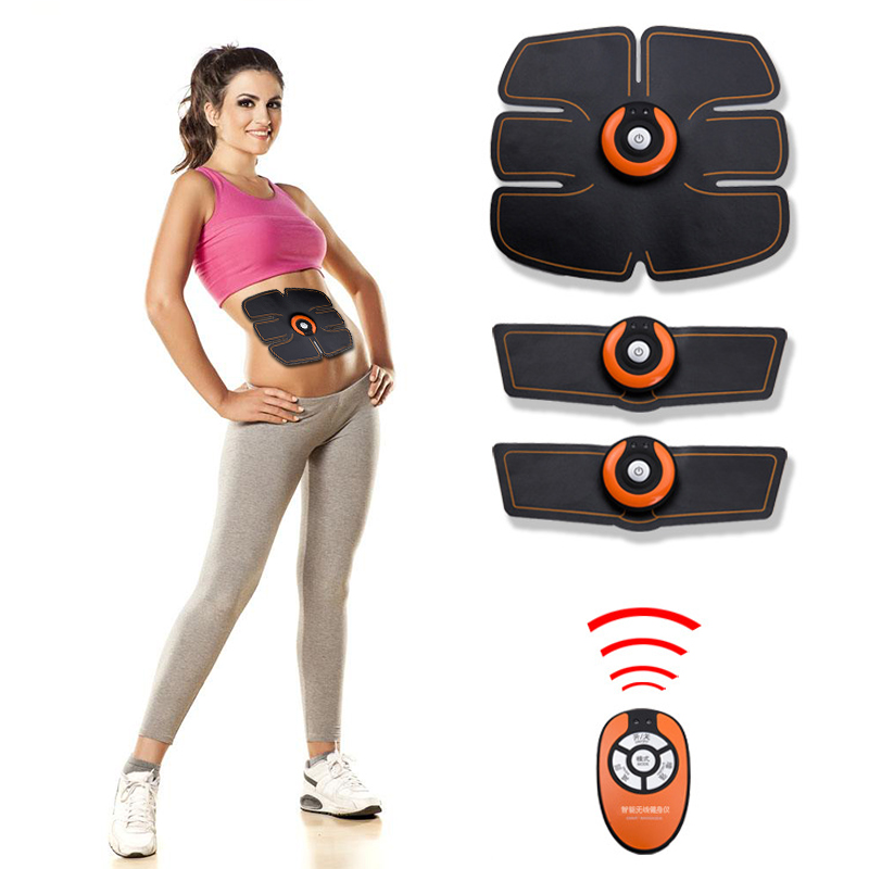 Smart Abdominal Muscle Trainer Sticker Body Sculpting Massage Lose Weight Stimulator Pad Fitness Gym Arm Sports Sticker Ab Rollers Sports & Entertainment