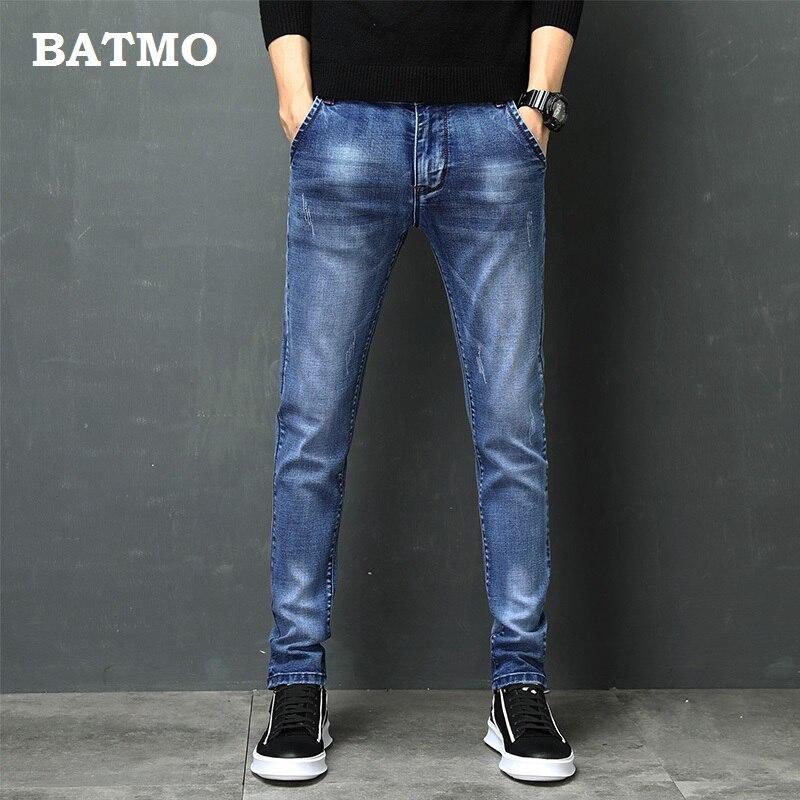 BATMO 2019 New Arrival Jeans Men Fashion Elastic Men's  Jeans High Quality Comfortable Slim Male Cotton Jeans Pants ,Z004