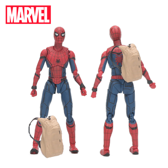 CAIXA de 15 centímetros Brinquedos the Avengers Marvel 3 Infinito Guerra Estatueta Spiderman PVC Action Figure Collectible Modelo Toy Boneca do Regresso A Casa