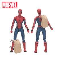 Coffret 15cm Marvel jouets les Avengers 3 Infinity War Figurine Spiderman retour PVC Figurine d'action à collectionner modèle poupée jouet