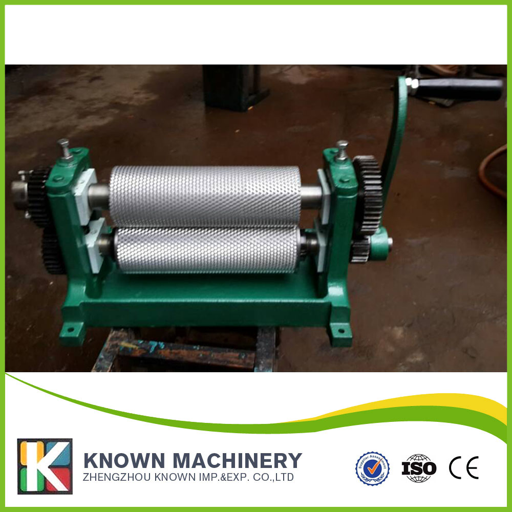 86*250mm hand crank / manual Beeswax comb foundation sheet roller mill machine 5.2mm
