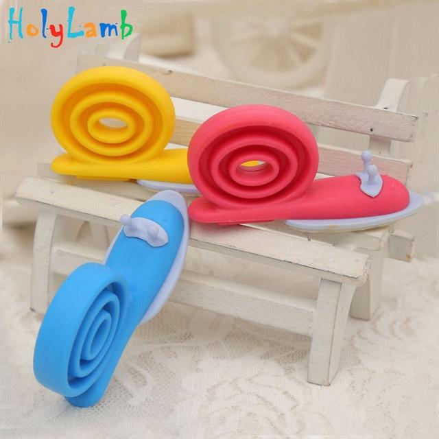 3Pcs/Lot Plastic Baby Safety Snail Shape Cabinet Door Stopper Lock Bloque 360 Degree Rotation Windproof Door Card Child Lock