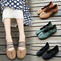 2017 women shoes new handmade shoes women flats spring retro lace casual shoes woman flat shoes