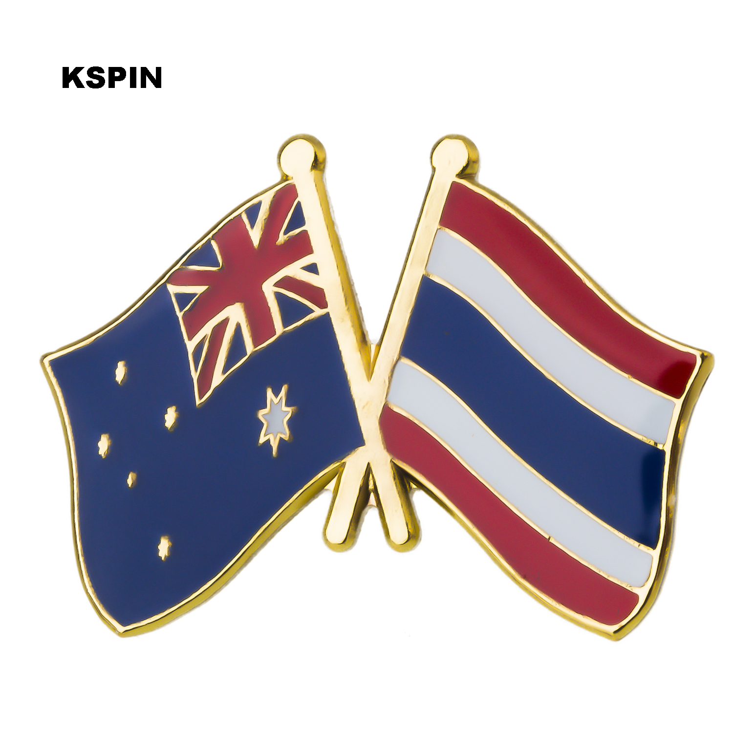 Well-Educated Australia Thailand Friendship Flag Label Pin Metal Badge Badges Icon Bag Decoration Buttons Brooch For Clothes 1pc Ks-0172 Be Friendly In Use Badges