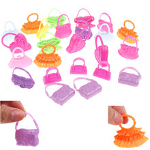 8 Pcs Mix Styles Doll Bags Accessories Toy Colorized Fashion Morden Bags For Doll Birthday Xmas Gift Randomly Colors(China)