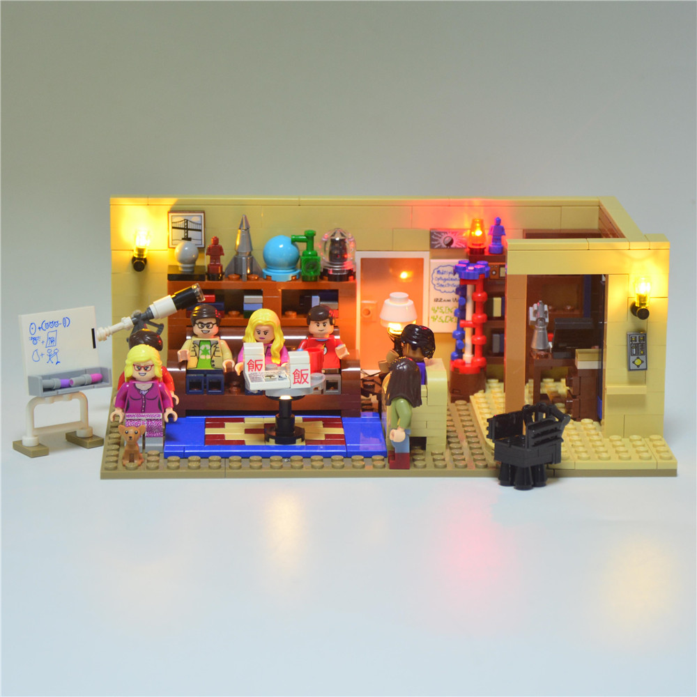 JOY MAGS Led Building Blocks Light Up Kit för Big Bang Theory Idea Series Kompatibel med Lego 21302 16024 Exklusive Modell