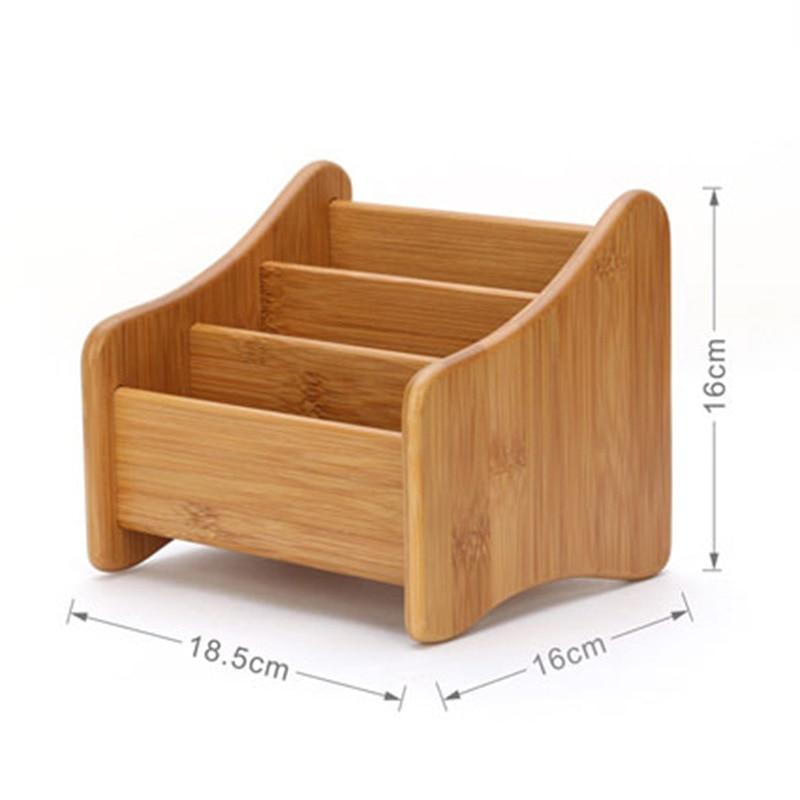 Bambusz tároló doboz 3 résszel Táblázat dekor Távirányító - Szervezés és tárolás - Fénykép 6