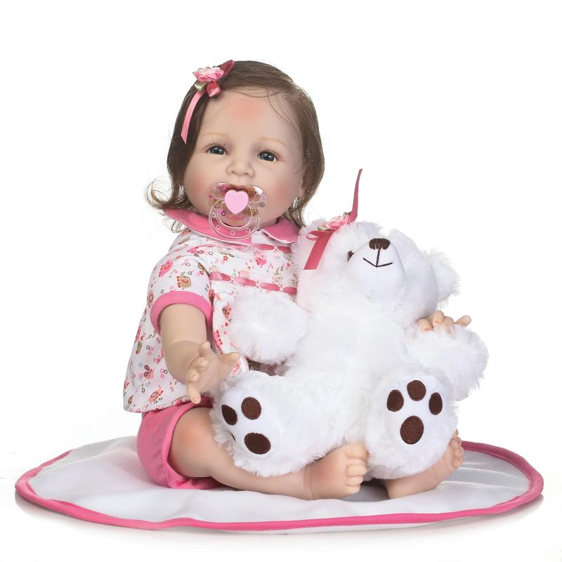 55cm soft Real touch silicone boneca bebes reborn silicone reborn toddler baby dolls kids birthday Christmas modeling dolls55cm soft Real touch silicone boneca bebes reborn silicone reborn toddler baby dolls kids birthday Christmas modeling dolls