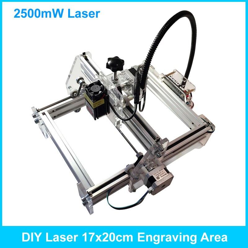 New Arrival Laser Engraving Machine 2500mw DIY Laser Engraver IC Marking Printer Carving Size 17*20cm посудомоечная машина korting kdi 45130 белый