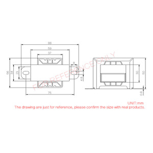 Image 5 - CIRMECH Dual ac 12v 30W Square EI transformer for preamplifer amplifer tone board use 110V 220V in optional