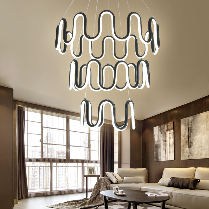 ledchandelier Post-modern American fish line led chandelier living room bedroom dining room study room staircase lamp lamp led ledchandelier post modern minimalist living room nordic creative bedroom dining room lights abaju