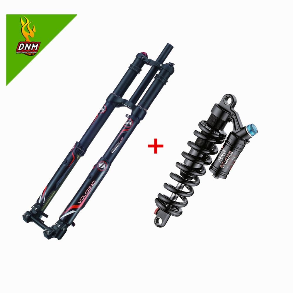 Dnm USD-8 garfos para suspensão a disco, suspensão de ar de freio a disco com dnm rcp2s durável 220mm de choque traseiro