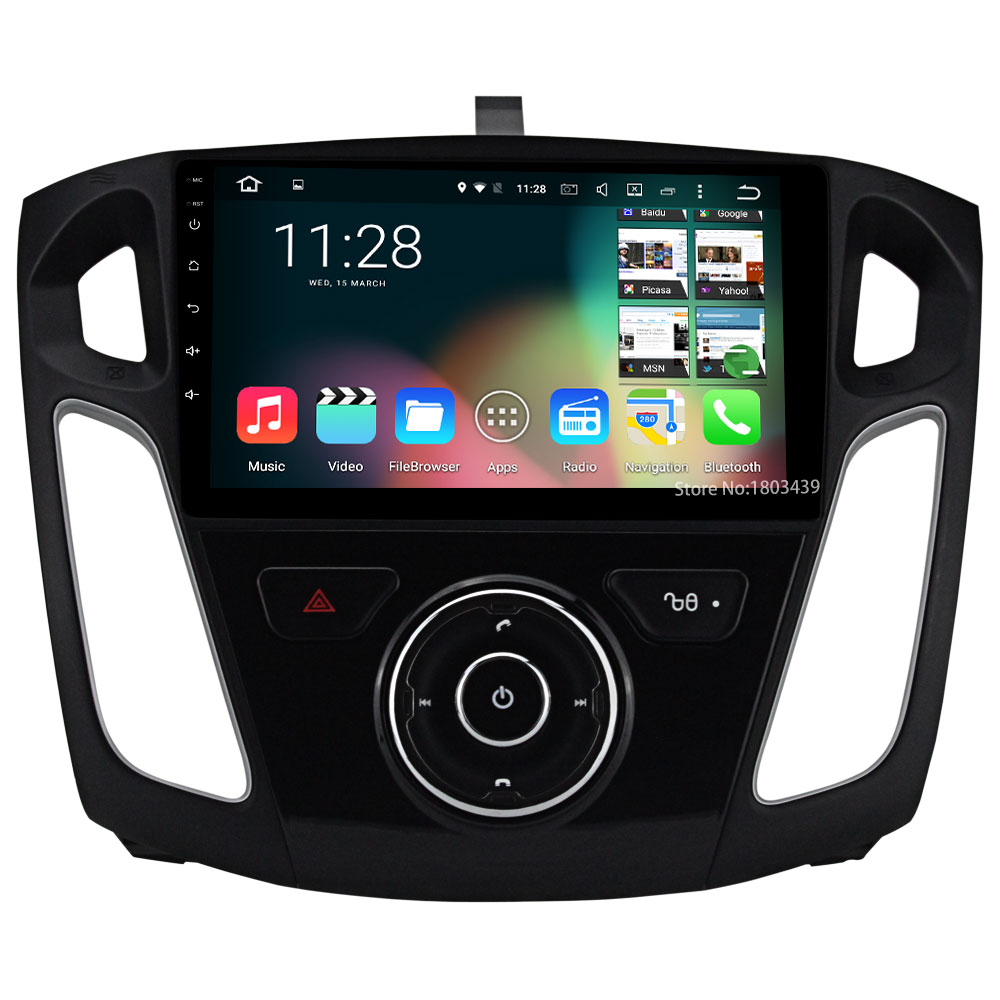 Quad Core DAB+ FM BT WIFI Android 5.1.1 <font><b>1Din</b></font> 9&#8243; 1024*600 <font><b>Car</b></font> DVD Player <font><b>Radio</b></font> PC Audio Stereo Screen For Ford Focus 3 2011-2015