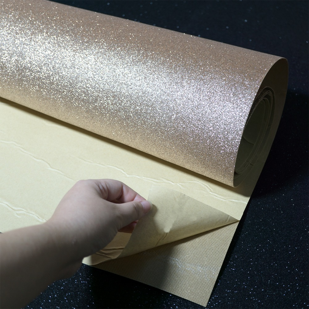 Self Adhesive Glitter Wallpaper Rolls For Walls Peel And Stick Roll Decor Craft Fabric Wedding(China)