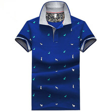 New Fashion Men Unisex cute cartoon deers Print T-Shirts Knit Cotton Short Sleeve Stand Collar youth Elastic blue white Tees гейзер сменная засыпка для картриджа ба 10bb 35752