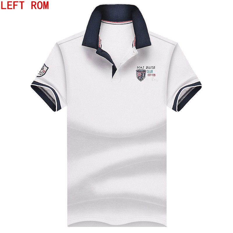 2018 New arrival fashion men   polo   shirt brand men printing breathable Business and leisure Pure color with short sleeves   polo