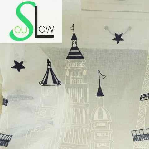 Slow Soul детская комната синий занавес для замка вышитые занавески сказочные тюль для гостиной шторы для кухни и спальни детские