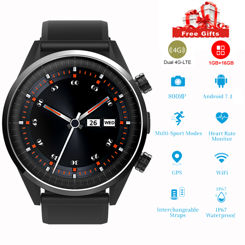 Smart Watch Men 4G LTE Phone WiFi 1.4inch 8 Million Pixel Camera Gps Heart Rate Waterproof 2019 Android  motion Woman smartwatchSmart Watch Men 4G LTE Phone WiFi 1.4inch 8 Million Pixel Camera Gps Heart Rate Waterproof 2019 Android  motion Woman smartwatch