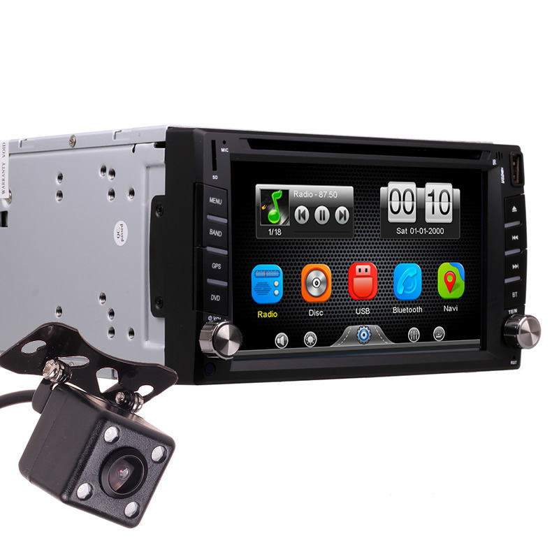 2Din Universal Car In Dash Touch Screen Bluetooth Radio CD DVD MP3 Video Media Player Head Unit Stereos (Without GPS)