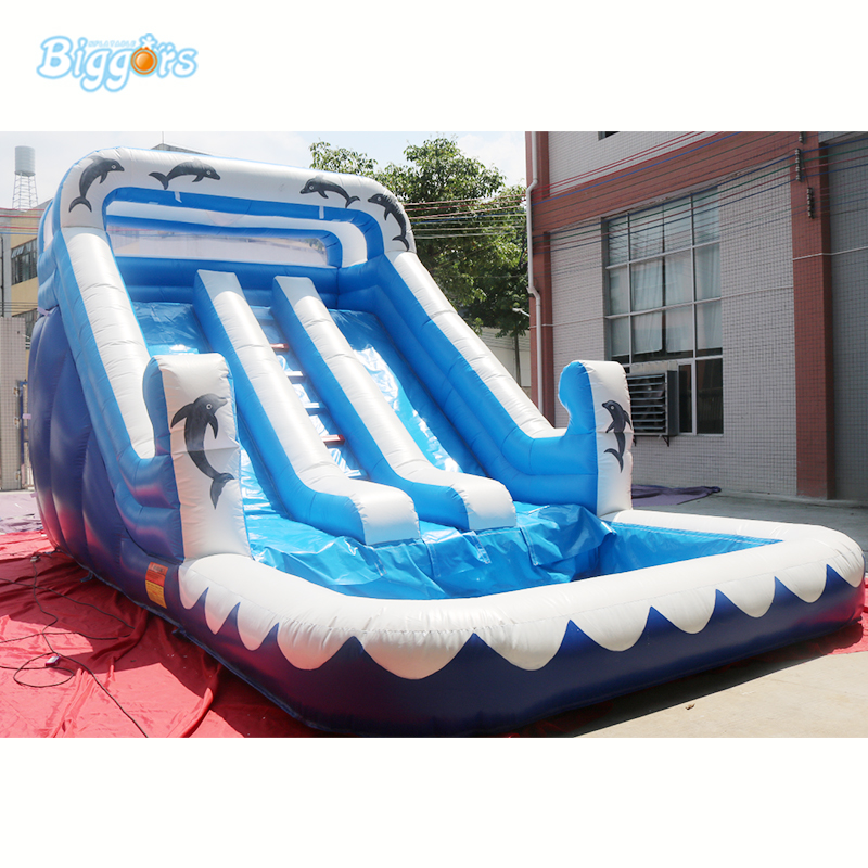 Only 1 in Stock inflatable water slide pool inflatable outdoor water slide with spray and tube accessories factory price inflatable backyard water slide pool water park slides pool slide with blower for sale
