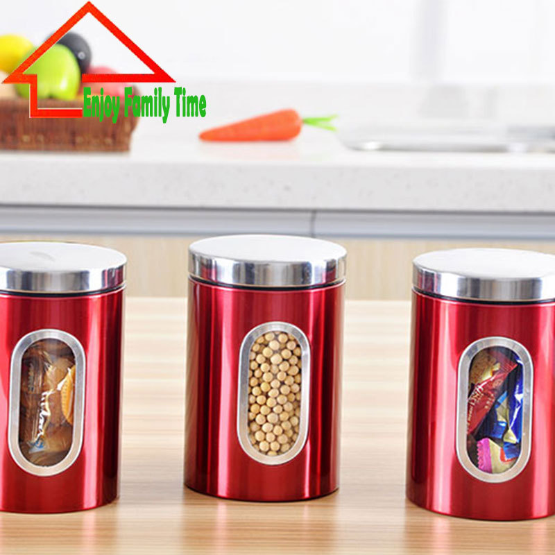 Amazing Red Storage Jars For Kitchen Part - 1: Red Storage Jars For Kitchen Best Storage Design 2017. SaveEnlarge