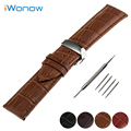Genuine Leather Watch Band 16mm 18mm 20mm 22mm for Longines L2 L3 L4 Master Conquest Butterfly Buckle Strap Wrist Belt Bracelet