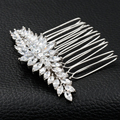 Luxo Completa AAA CZ Zircomn Pentear O Cabelo Cabelo Mulheres Jóias Para Casamento Nupcial TF071