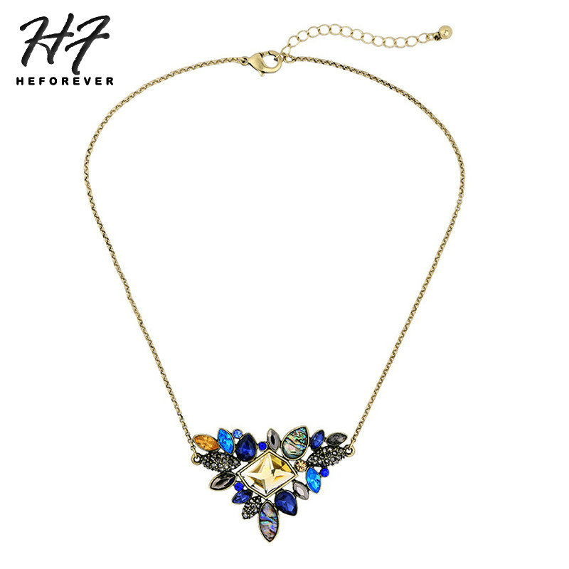 Necklaces for Women Vintage Multicolored Pendant Fashion Jewelry 2018 Gift for Girl KA365
