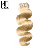 HJ WEAVE BEAUTY Blonde Brazilian Hair Bundles 100 Human Hair 613 Remy Hair Body Wave
