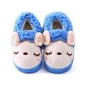 Invierno de Los Niños Zapatos Niños Niñas Zapatillas Ovejas de la Historieta Linda Kids Inicio Zapatos Suave Cómoda de Algodón Cálido Invierno Zapatillas de Casa
