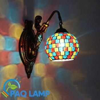 Vintage wall lamp Mosaic glass lighting Corridor Restaurant LED lighting light fixture