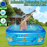 3 Size Inflatable Baby Swimming Pool Portable Outdoor Children Basin Bathtub kids Pool Baby Swimming Pool Water Summer Play