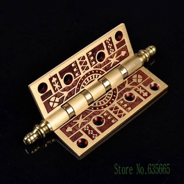 Luxury Elegant Antique Gold Solid Copper Door Hinge Heavy Duty ...