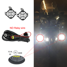 1 Set Universal Motorcycle LED Auxiliary Fog Light Assemblie Driving Lamp 40W Headlight For BMW R1200GS/ADV/F800GS