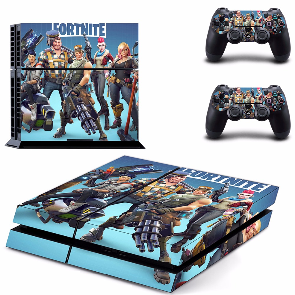 Game Fortnite Battle Royale PS4 Skin Sticker Decal For Sony PlayStation 4 Console and 2 Controllers PS4 Skin Sticker Vinyl