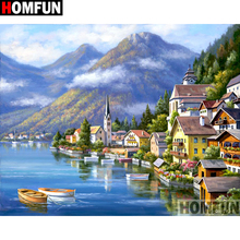 HOMFUN Full Square/Round Drill 5D DIY Diamond Painting House landscape Embroidery Cross Stitch 3D Home Decor A10513 homfun full square round drill 5d diy diamond painting house landscape embroidery cross stitch 3d home decor gift a13366