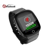 Heart Rate Monitor Elderly Kids Smart Watch D100 Fall Down Alarm Function Anti Lost GPS LBS