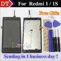 """Alta qualidade display lcd + digitador assembléia tela de toque para xiaomi hongmi red rice redmi 1 1 s 4.7 """"celular Com Quadro"""