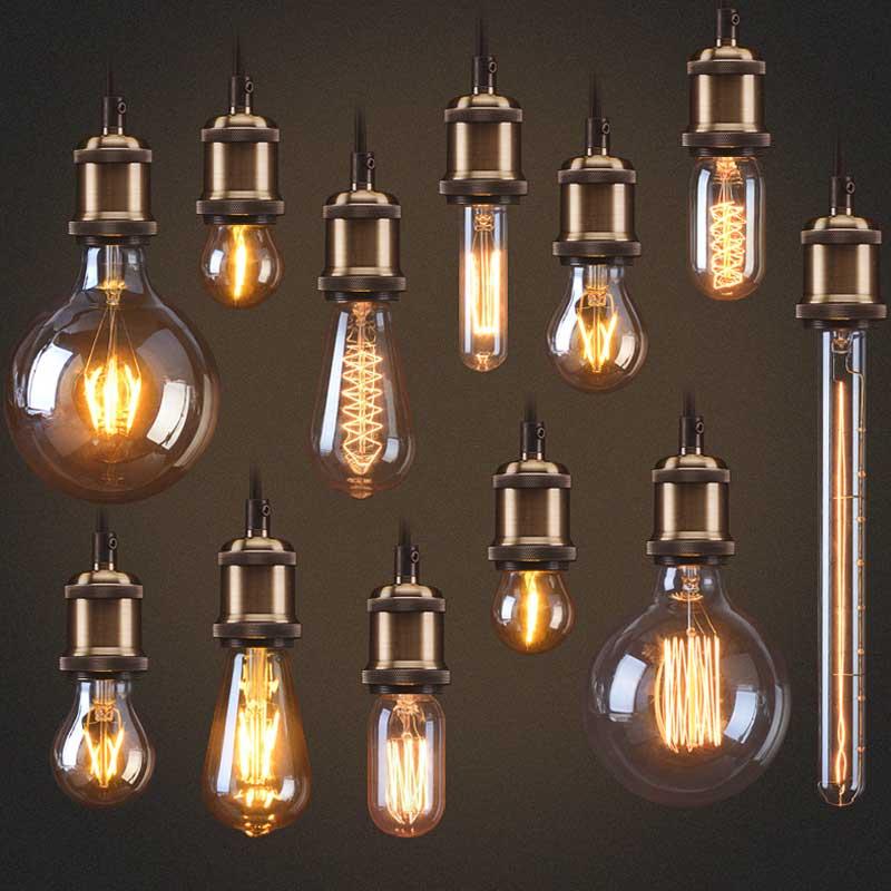 Retro Edison Gloeilamp E27 220 V 40 W ST64 G95 Lamp Vintage Gloeilamp - Binnenverlichting - Foto 2