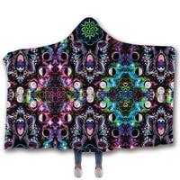 Anti Samely Scarves & Wraps Hooded Blanket 3D Print Harajuku orangutan hooded poncho scarf shawl manteau femme hiver
