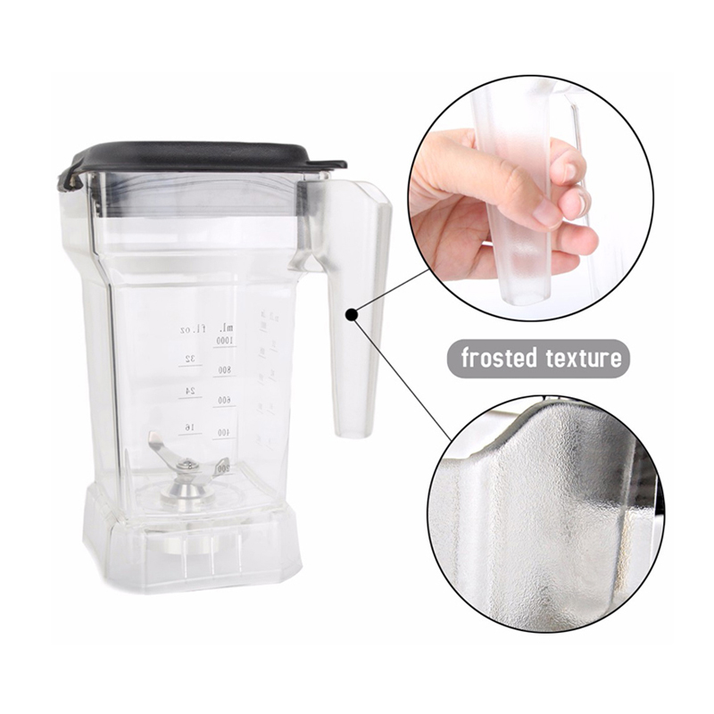1-1.5L Capacity Square Container Jar Jug Pitcher Cup Bottom With Serrated Blades Lid For Commercial Blender BD-9001 Spare Parts commercial blender spare parts blades disassemble tool opener key for remove blender knife blender tool jar opener