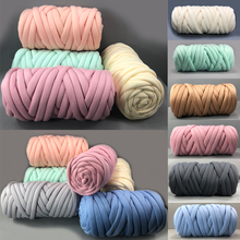 Super Bulky Arm Knitting Wool Roving Knitted Blanket Chunky Wool Yarn Super Thick Yarn For DIY Knitting/Crochet/Carpet/Hats D20 500g 6cmthick roding wool gaint diy chunky giant knitting soft blanket yarn merino wool yarn knitting wool extreme merino wool