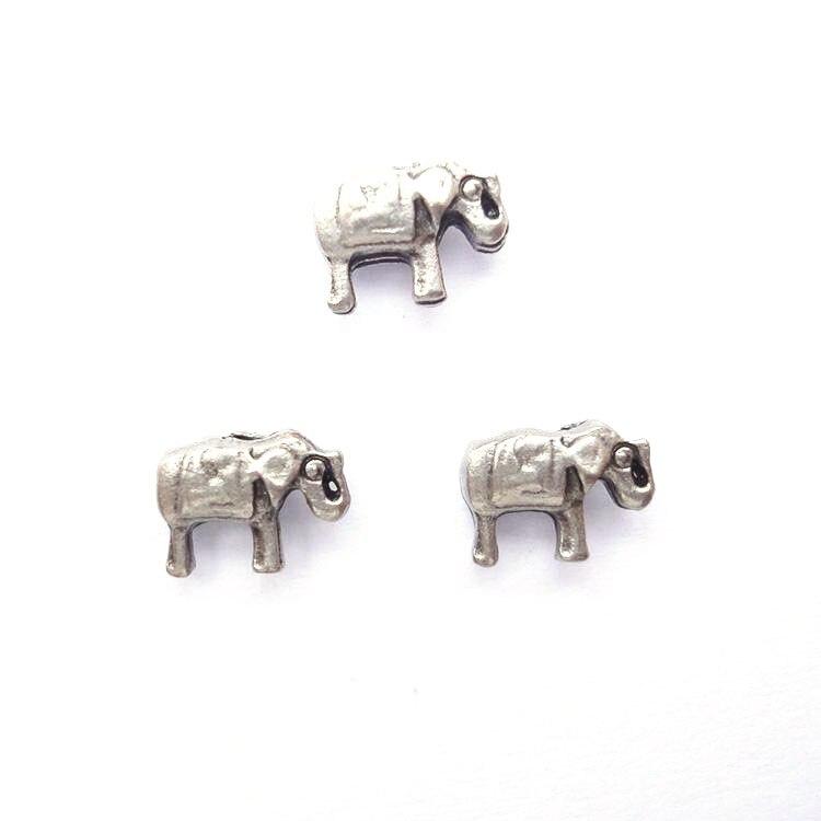 NºEncantos del elefante de plata, encantos para la memoria Locket ...
