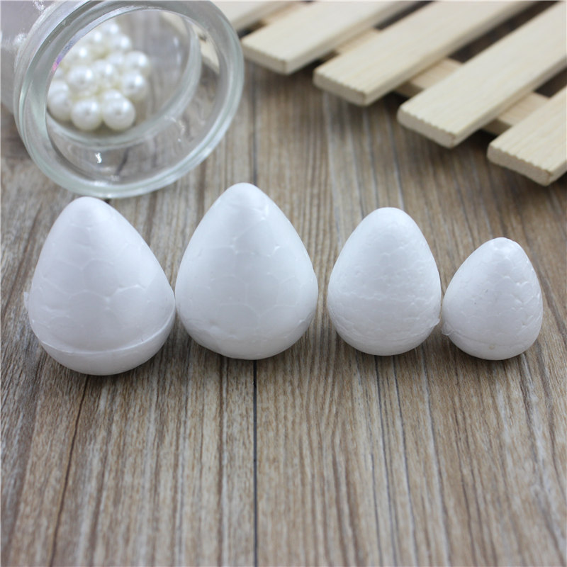 50pcs Modelling Polystyrene Styrofoam Foam ball White Craft Balls For DIY Christmas Party Decoration Supplies Gifts