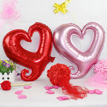 18inch Love Hollow out heart foil balloon Party Balloons 1St
