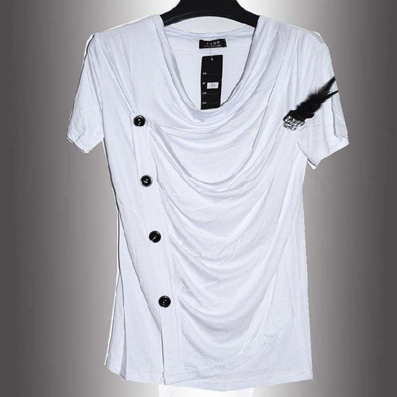 2016 Summer New Non Mainstream Bianfushan Short Sleeved V neck T font b Shirt b font
