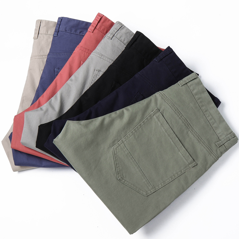 7 Color Plus Size 28-38 Mens Denim Shorts Solid Slim Elastic Short Jeans Regular Male Bermuda Short Pants 2019 New Summer YJ05